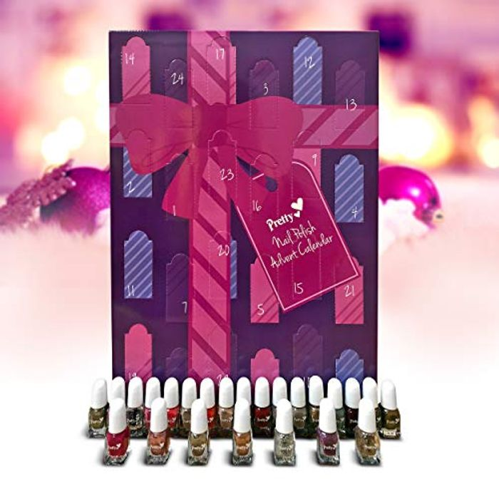 New Lower Price! Pretty Nail Polish 24 Days of Advent Calendar FREE DELIVERY