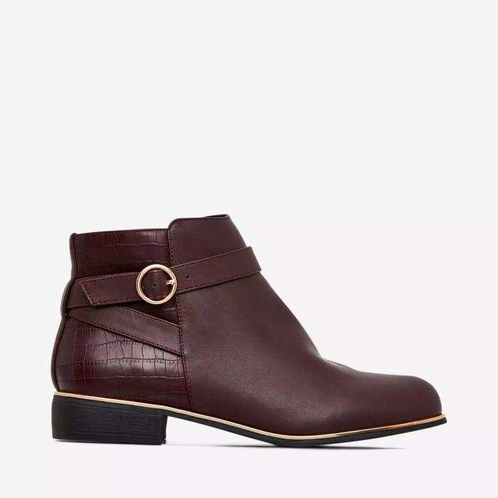 Dorothy Perkins - Burgundy Mina Jodphur Boots