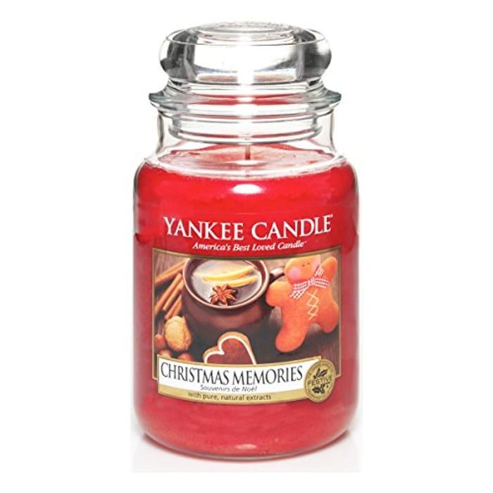 SAVE £9 - Yankee Candle Large Jar Candle, CHRISTMAS MEMORIES
