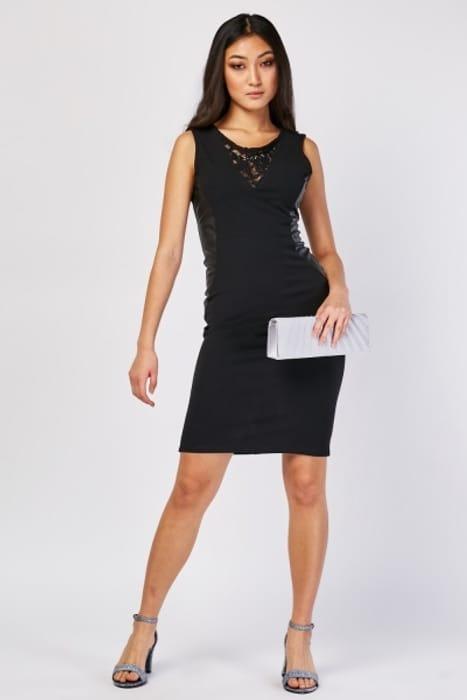 Lace Panel Bodycon Dress £5.00