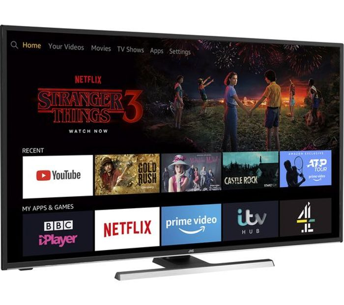"""*SAVE £80* JVC Fire TV Edition 55"""" Smart 4K Ultra HD HDR LED TV with Alexa"""
