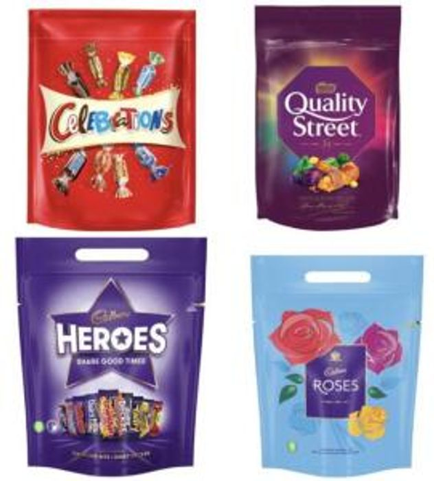 Quality Street . Roses , Heroes , Celebrations, Pouches