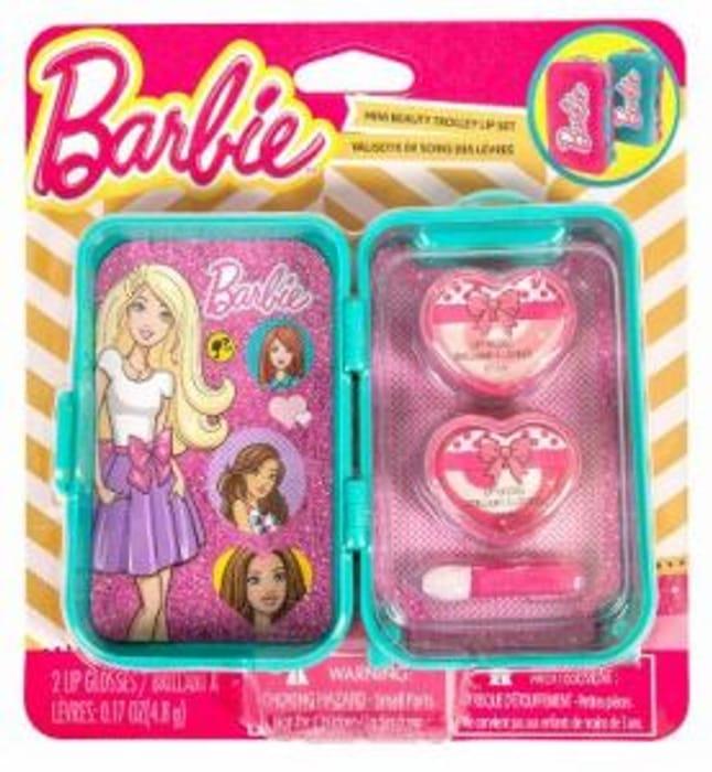 Barbie Kids Mini Lip Gloss Trolley on Sale From £9.99 to £1.99