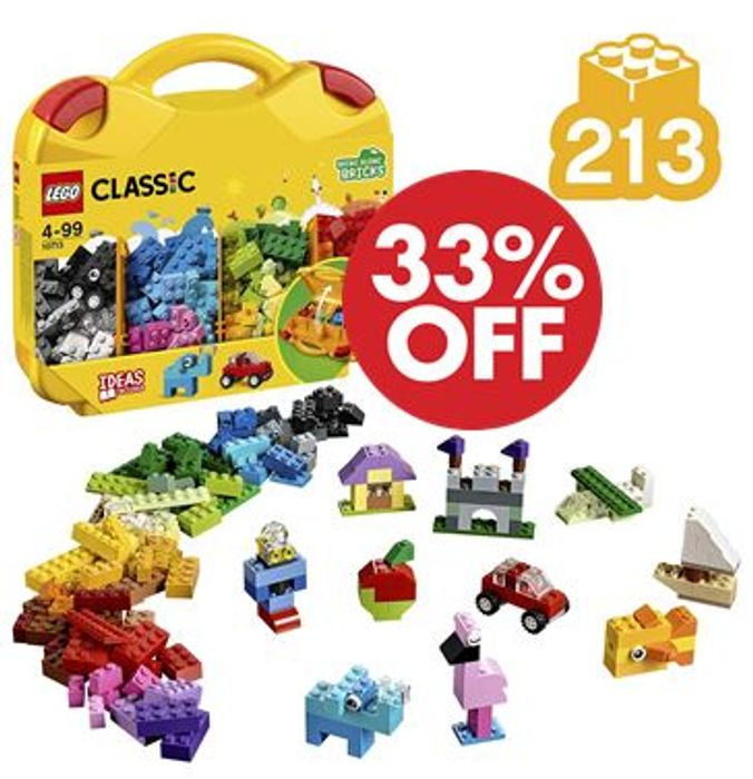 LEGO BARGAIN! LEGO Creatice Suitcase -over 200 Pieces! *4.8 STARS*