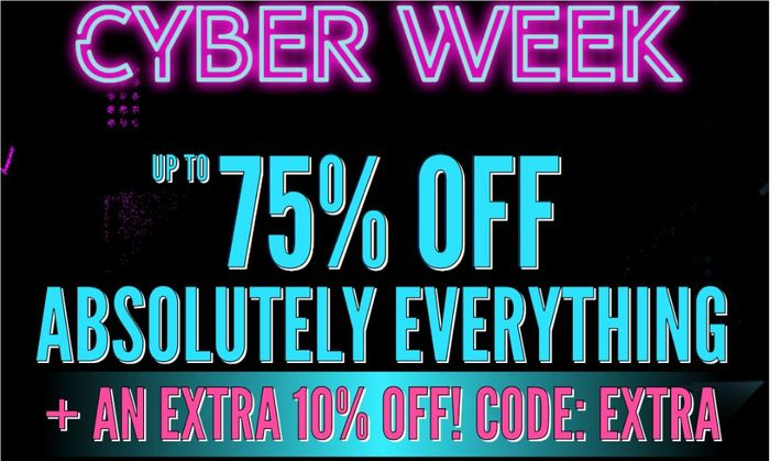 CYBER WEEK at Boohoo - up to 75% off + Extra 10% with Code: EXTRA