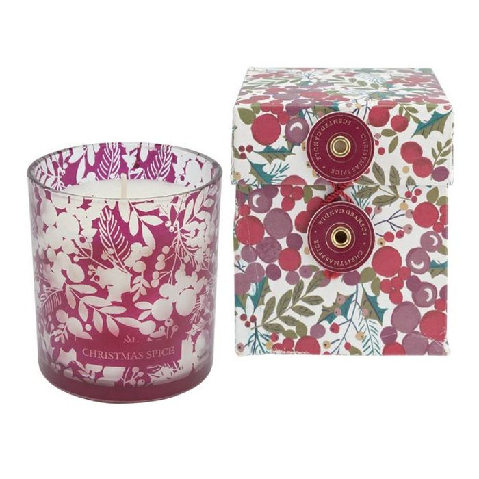 Argos Home Christmas Spice Boxed Candle
