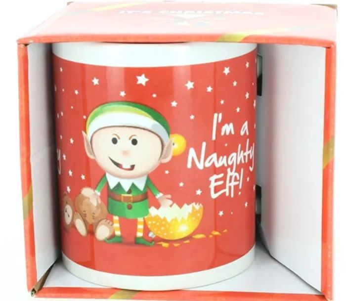 Christmas Mug 'I'm A Naughty Elf' ONLY £1 *Might Be Appropriate For Some?