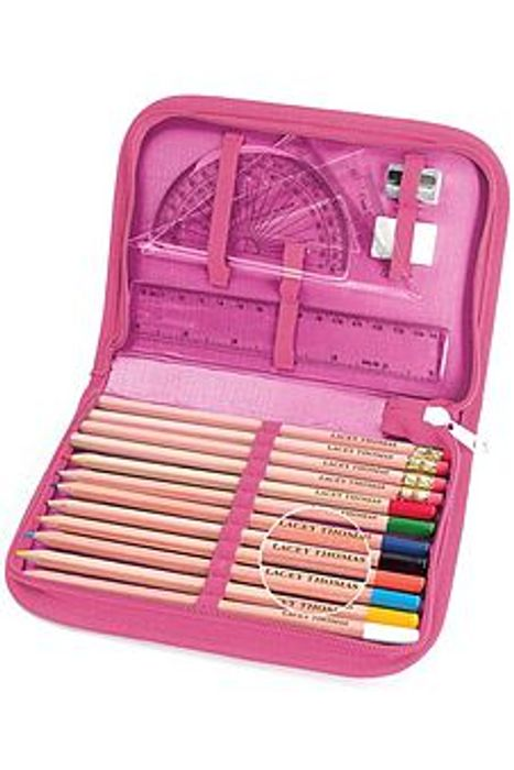 Pack of 24 Personalised Coloured Pencils