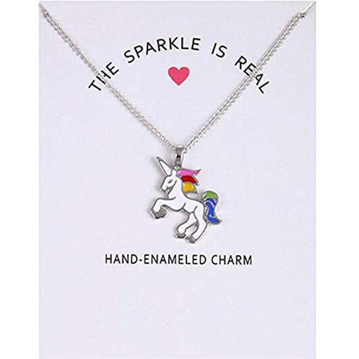 Unicorn Pendant Necklace at Amazon - Only £0.83!