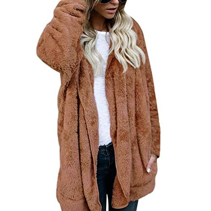 Up to 70% off Women's Fleece Fluffy Jacket Coat with Pocket (Various colours)