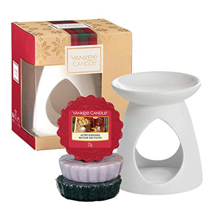Best Ever Price! Yankee Candle Gift Set with 3 Scented Wax Melts & 1 Melt Warmer