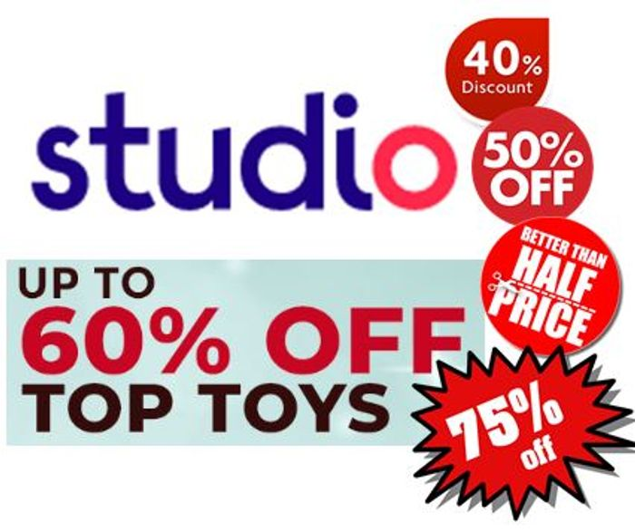 Up to 60% off 300 TOYS at STUDIO ! (Actually up to 90% Off!)