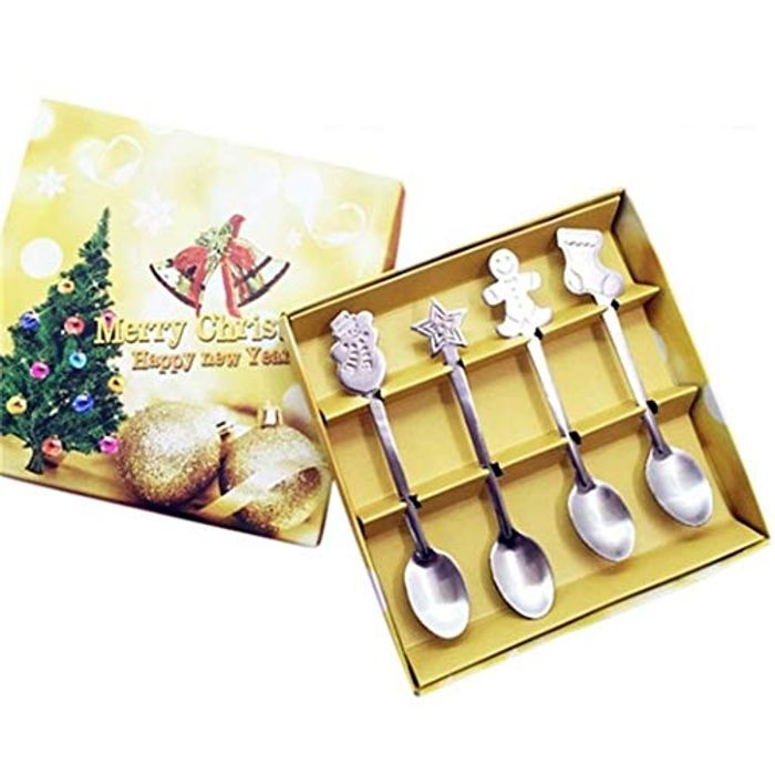 4Pcs Xmas Spoons 70% off + Free Delivery