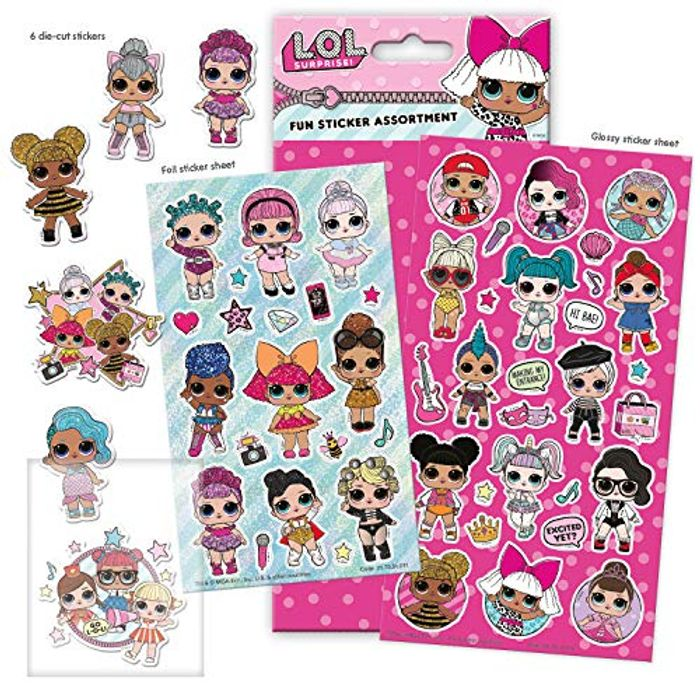 L.O.L. Surprise Assorted Sticker Pack (Amazon Add-on Item)