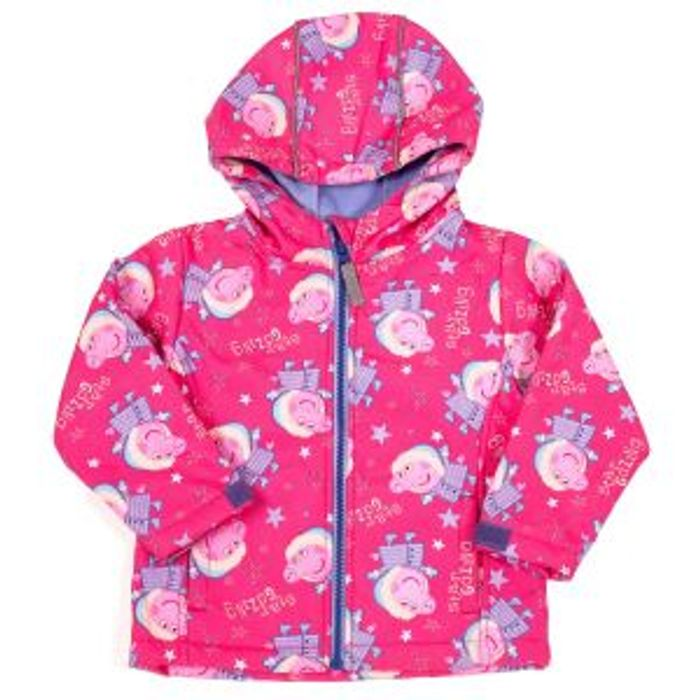 Peppa Pig Childrens Soft Shell Jacket Star Gazing 18-24 Months - Pink