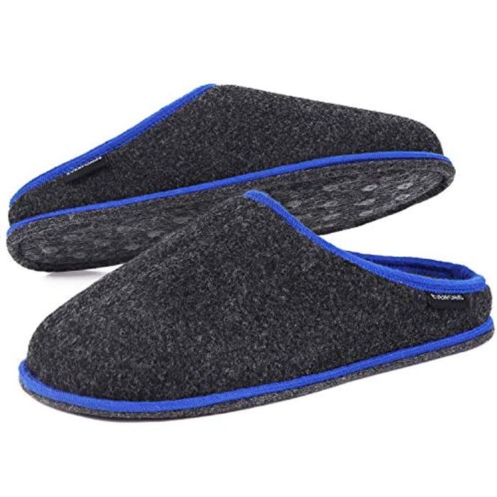 Men's Women's Fuzzy Faux Wool Felt Slippers