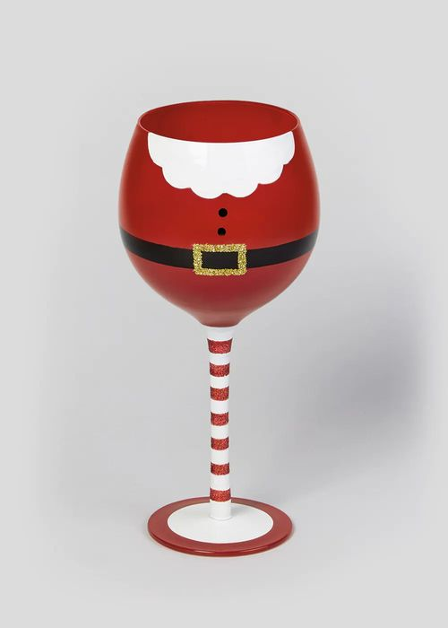 Santa Belly Wine Glass Down From £4 to £2.8