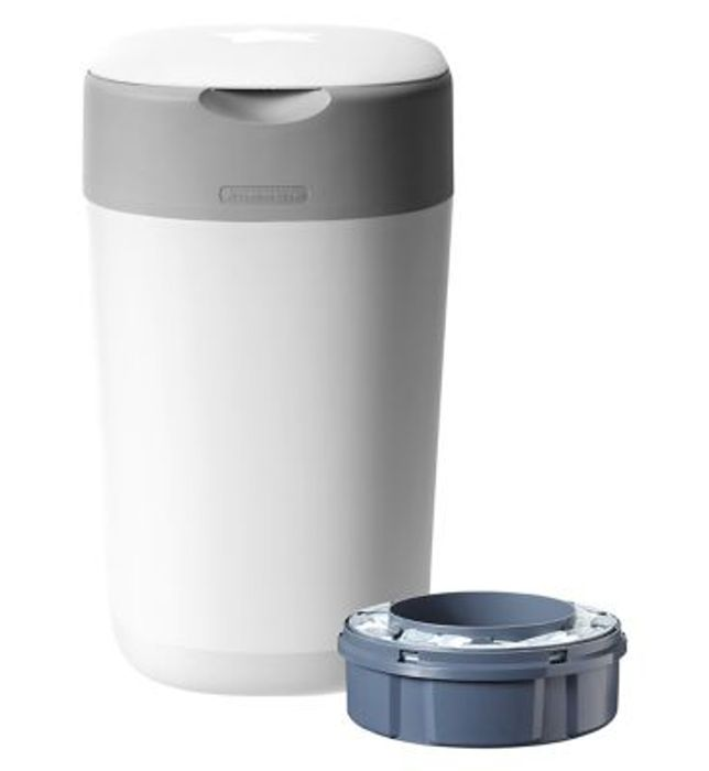 Best Price! Tommee Tippee Twist & Click Advanced Nappy Disposal Bin System White