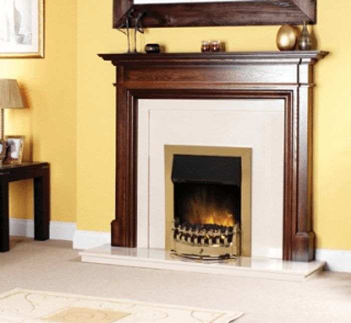£15 off Dimplex Stamford Brass Inset Electric Fire with Voucher Code