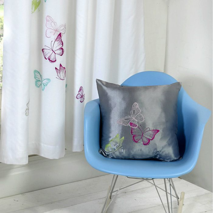 Cheap Butterflies Filled Cushion at Onlinehomeshop - Only £4.99!