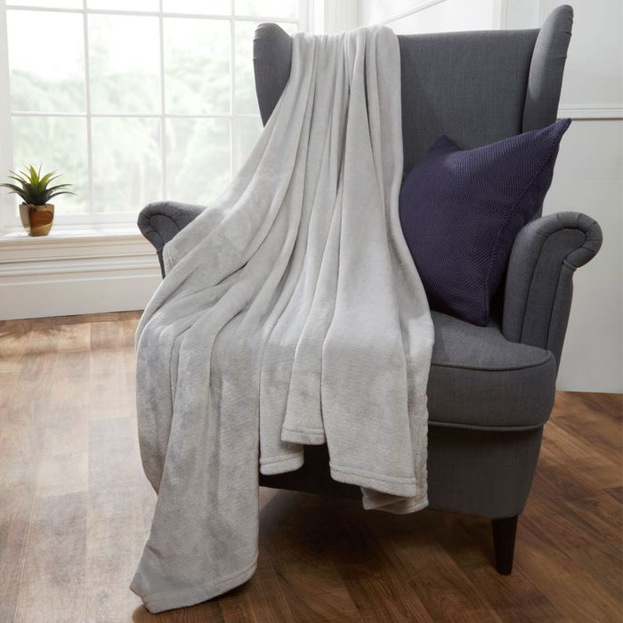 Silver Grey Super Soft Throw 150200 Cm