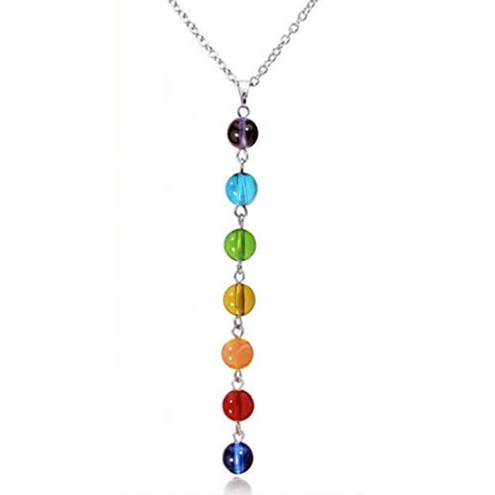 Faliya 7 Chakra Gemstones Crystals Beads Pendant FREE DELIVERY