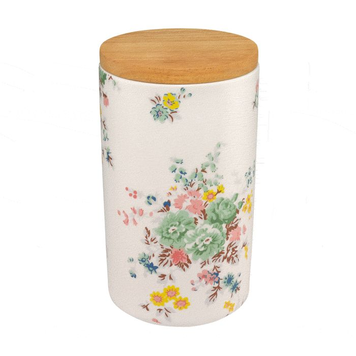Cath Kidston - Washed Roses Large Storage Pot with Lid