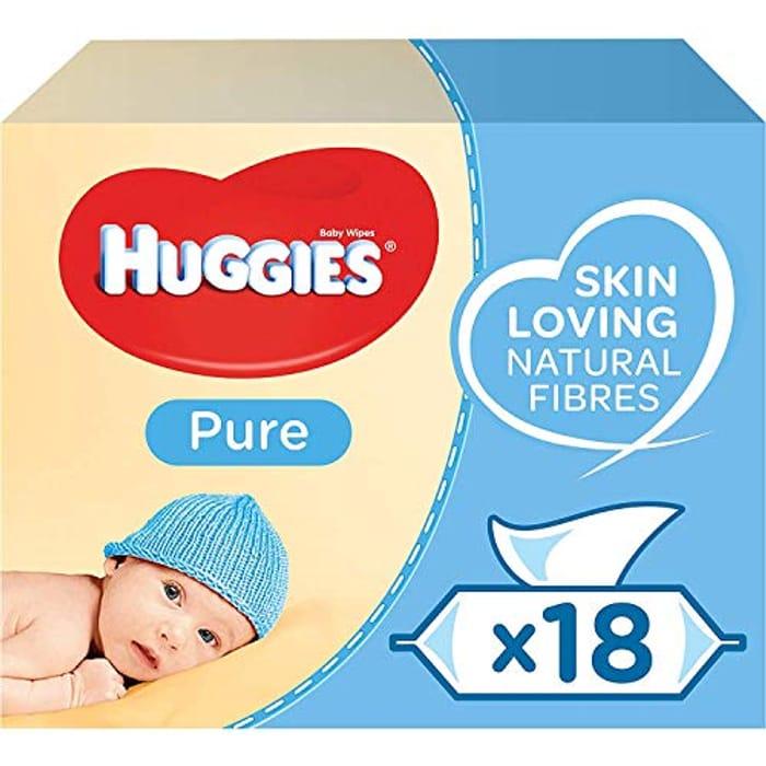 Huggies Pure Baby Wipes, 18 Packs (1008 Wipes)
