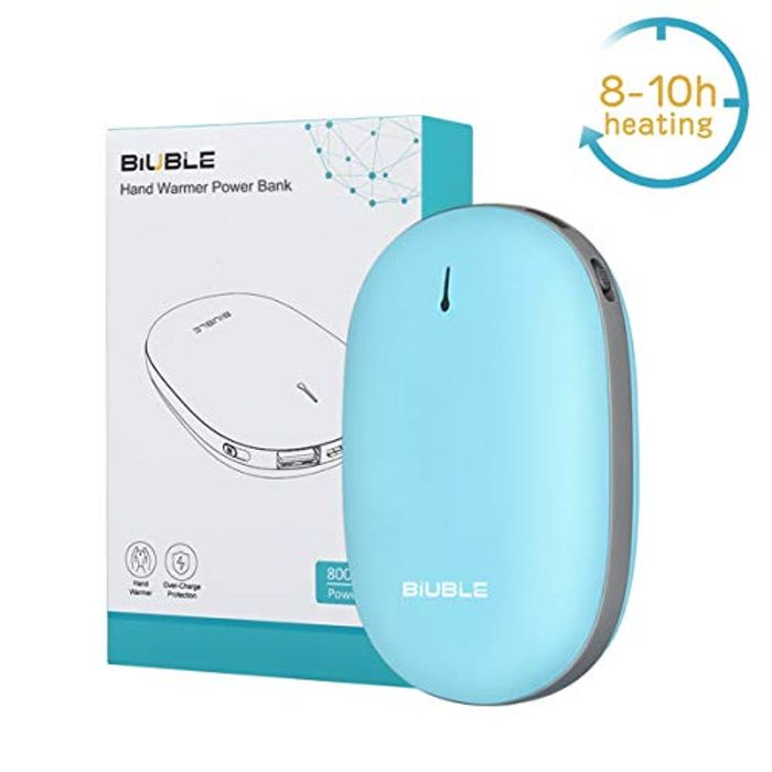 30% off 2-in-1 Rechargeable Portable Hand Warmer and 8000mAh USB Power Bank