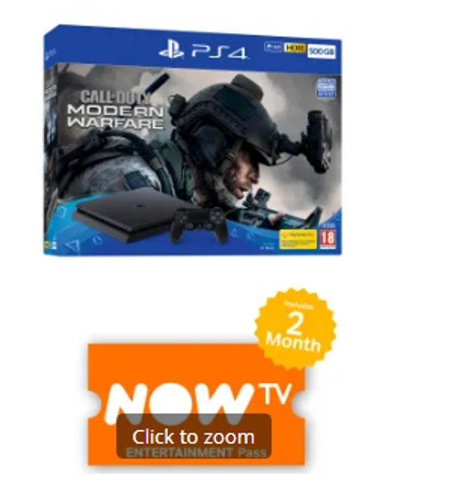 500GB PLAYSTATION 4 CALL of DUTY: MODERN WARFARE BUNDLE with NOW TV Only £249