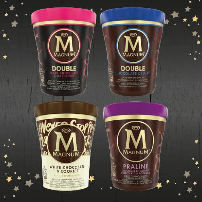 Magnum Ice Cream Tubs Various Flavours Any 2 for £2.00