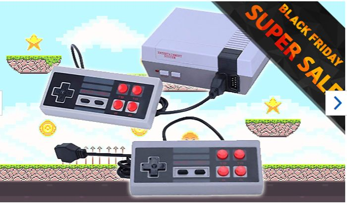 Mini Retro TV Games Console with 500 Built-in Games! Save £2 with Code!