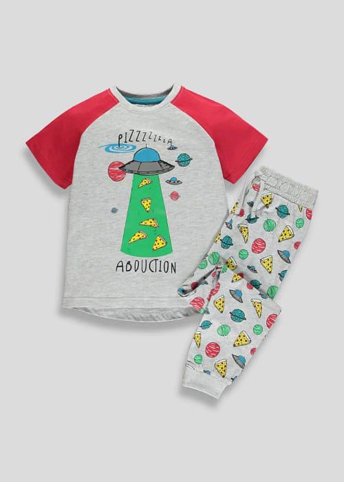 Kids Space Pizza Pyjama Set (4-13yrs) - HALF PRICE!