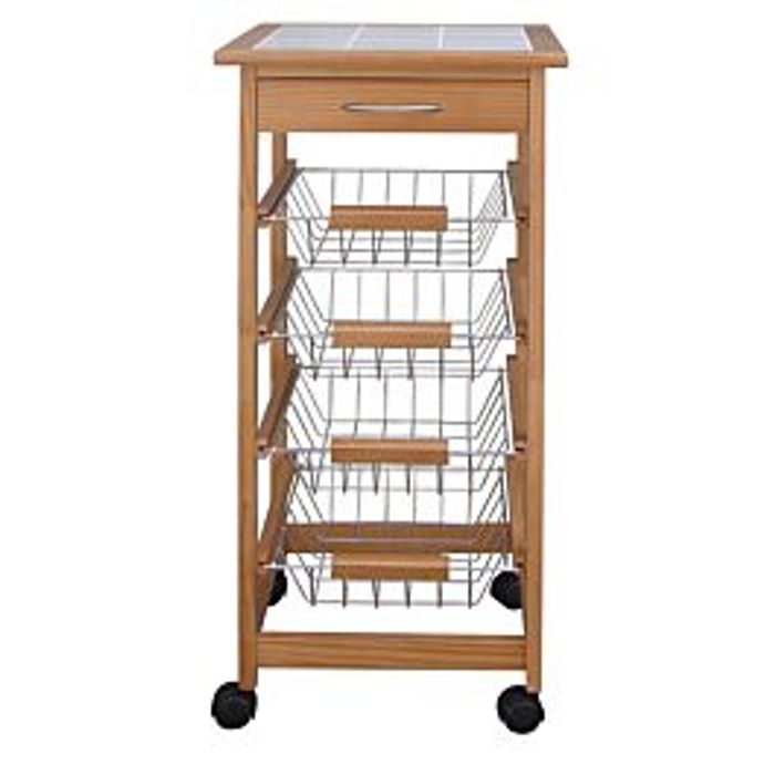 Robert Dyas Kitchen Trolley with Ceramic Top