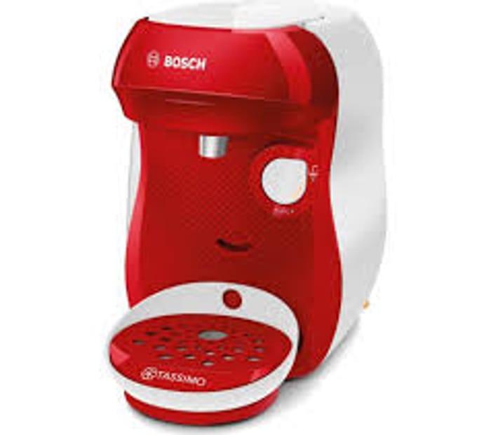 Best Price! TASSIMO by Bosch Happy TAS1006GB Coffee Machine - Red & White