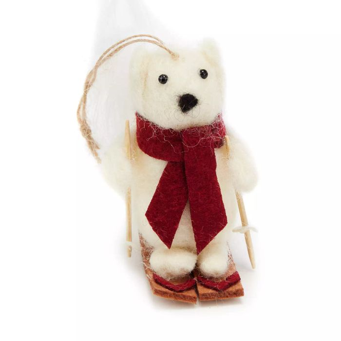 White Skiing Squirrel Decoration - HALF PRICE
