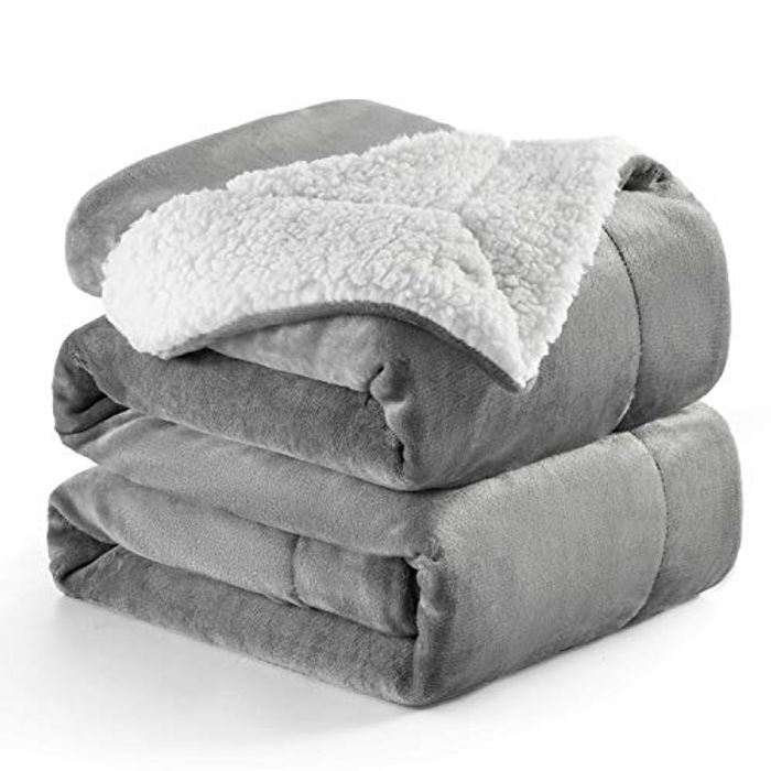 45% off BEDSURE Reversible Sherpa Blanket - Super Soft & Warm (Various)