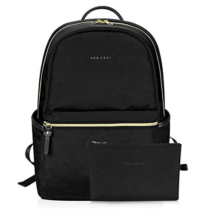 KROSER School Backpack 15.6 Inch Upgraded Fashion Laptop Backpack