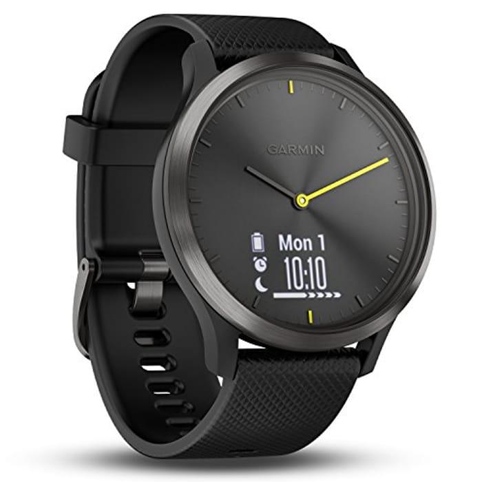 Garmin Vivomove HR Hybrid Smart Watch (Large) - Black with Black Band