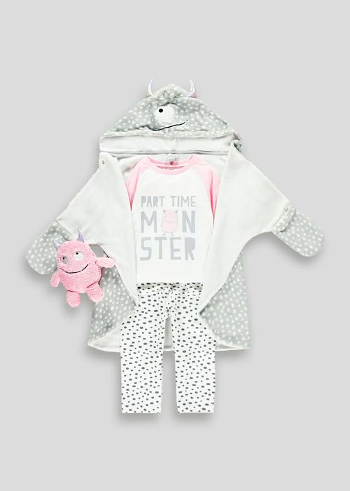 3 Piece Little Monster Pjs