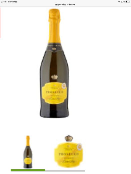Extra Dry Prosecco £6 each or buy six for £4.50 each!