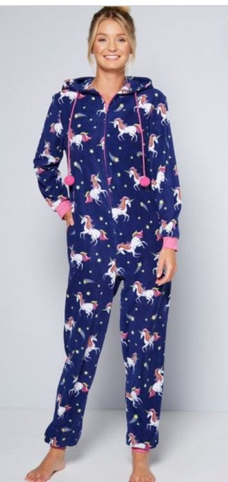 Unicorn Hooded Woman's Onesie