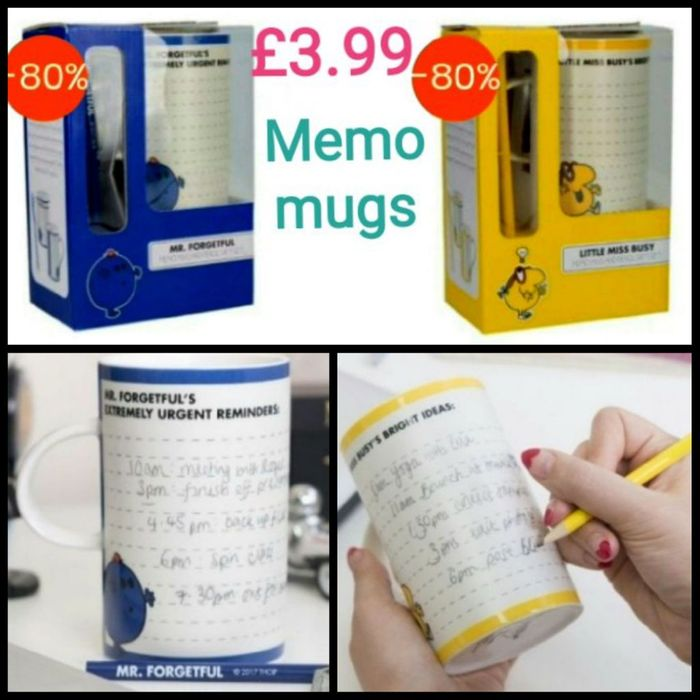 Best Price! Memo Mug and Pencil Gift Set in (Little Miss Busy / Mr Forgetful)