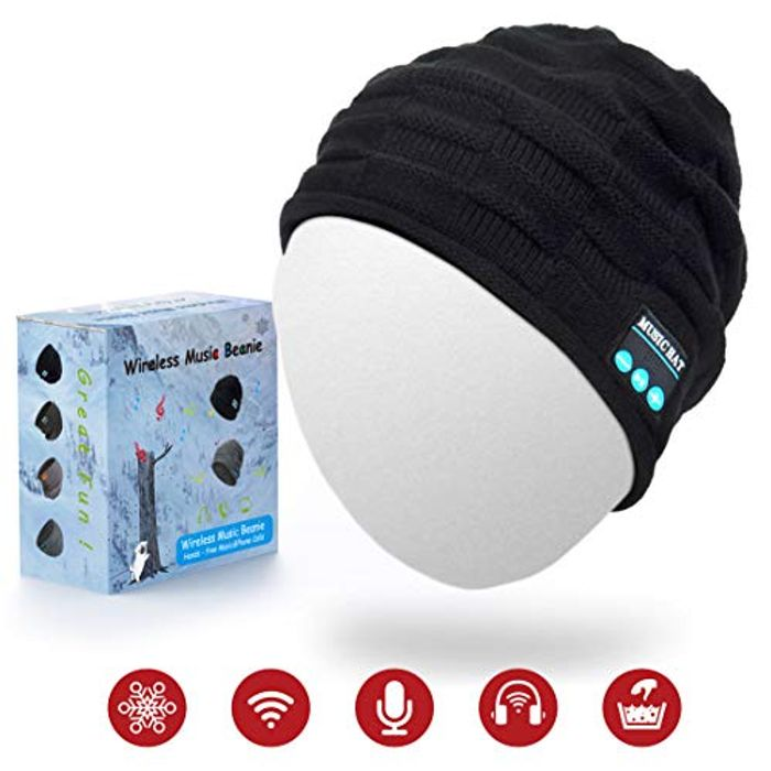 Bluetooth Beanie Hat with Stereo Speakers and Mic