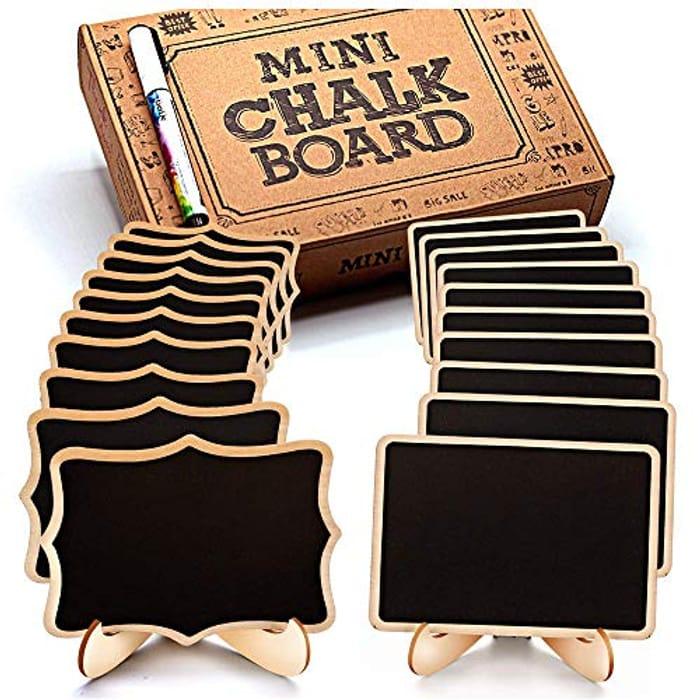 Mini Chalkboard Signs: Best Mini Blackboards with Stand 20 Pcs