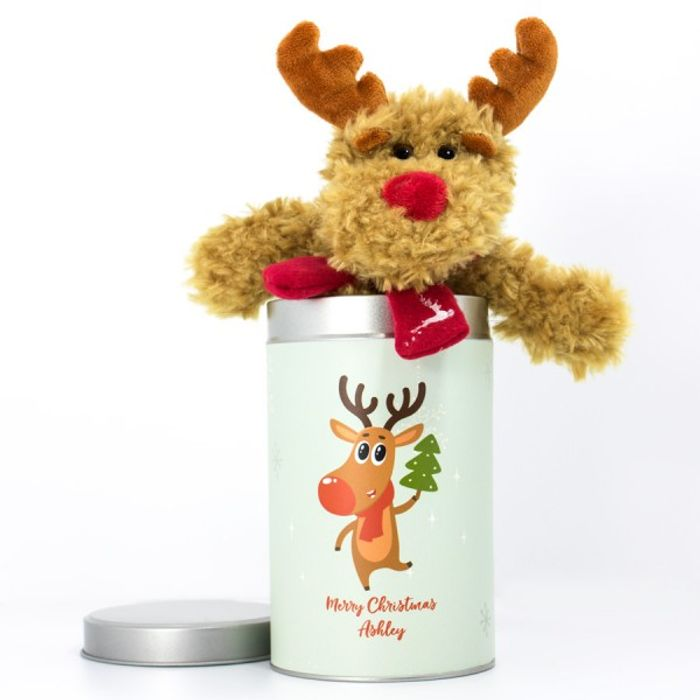 £12 off Personalised Reindeer in a Tin