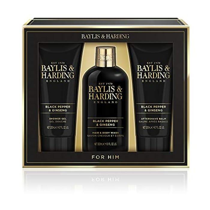 Baylis & Harding Men's Black Pepper & Ginseng Grooming Trio