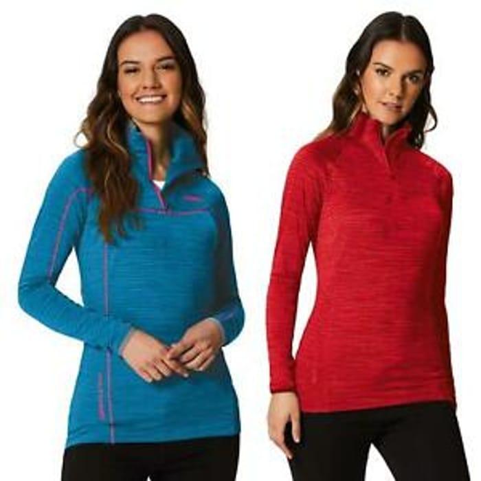 Regatta Yonder Ladies Micro Fleece Jumper Red or Blue £6.99 Delivered