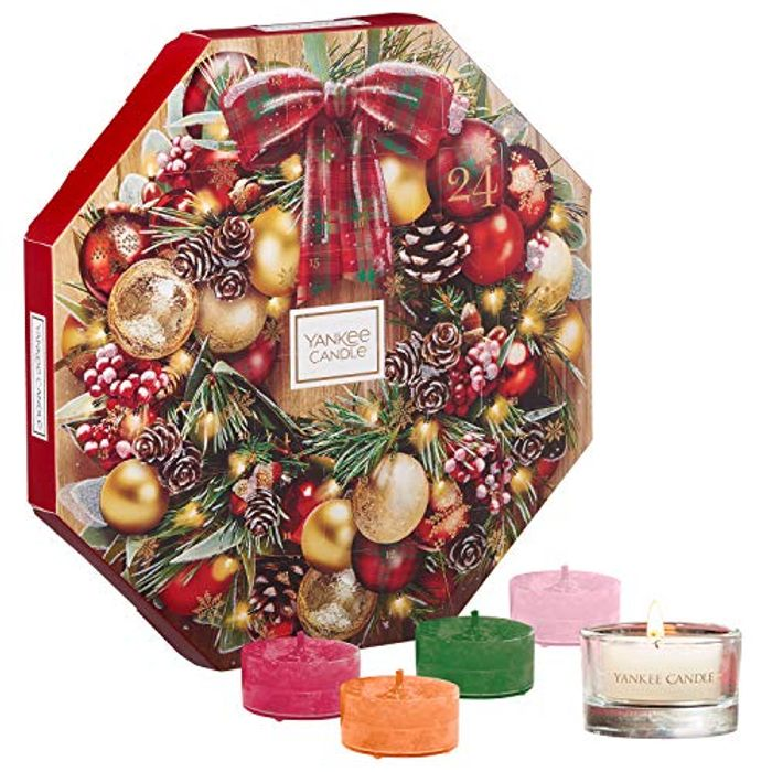 Yankee Candle Advent Calendar - 24 Scented Tea Lights + Glass Tea Light Holder