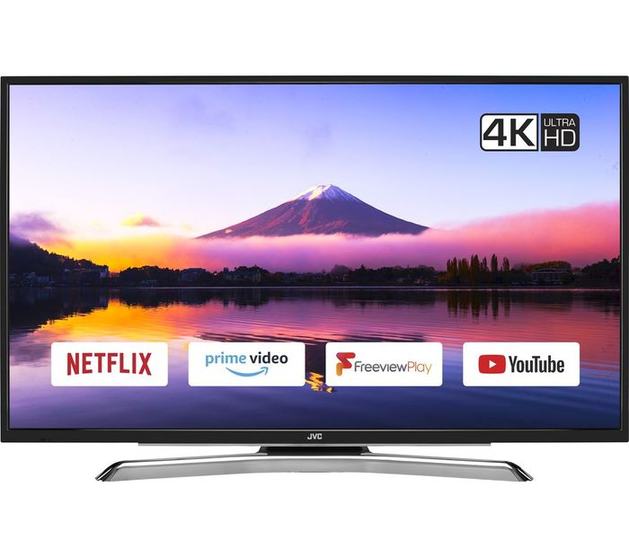 """*SAVE £70* JVC 49"""" Smart 4K Ultra HD HDR LED TV with Freeview Play"""